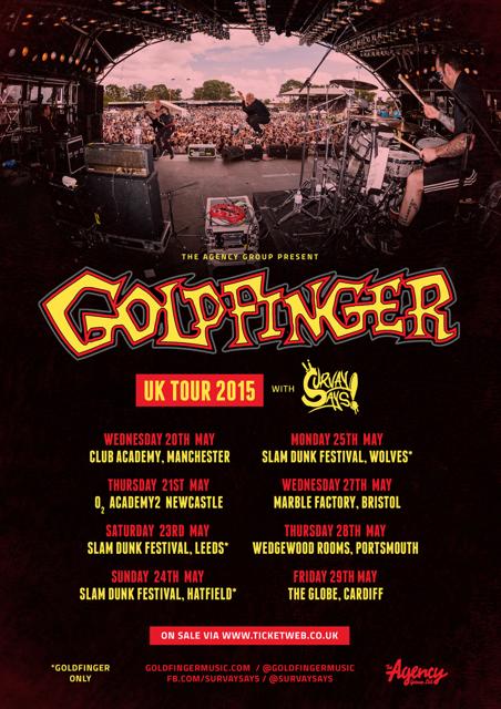 UK TOUR POSTER goldfinger